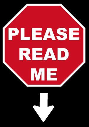 Please read me!