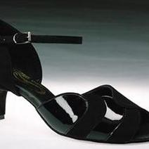 xena black satin & leather